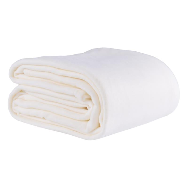 Fleece Blanket, King, Ivory