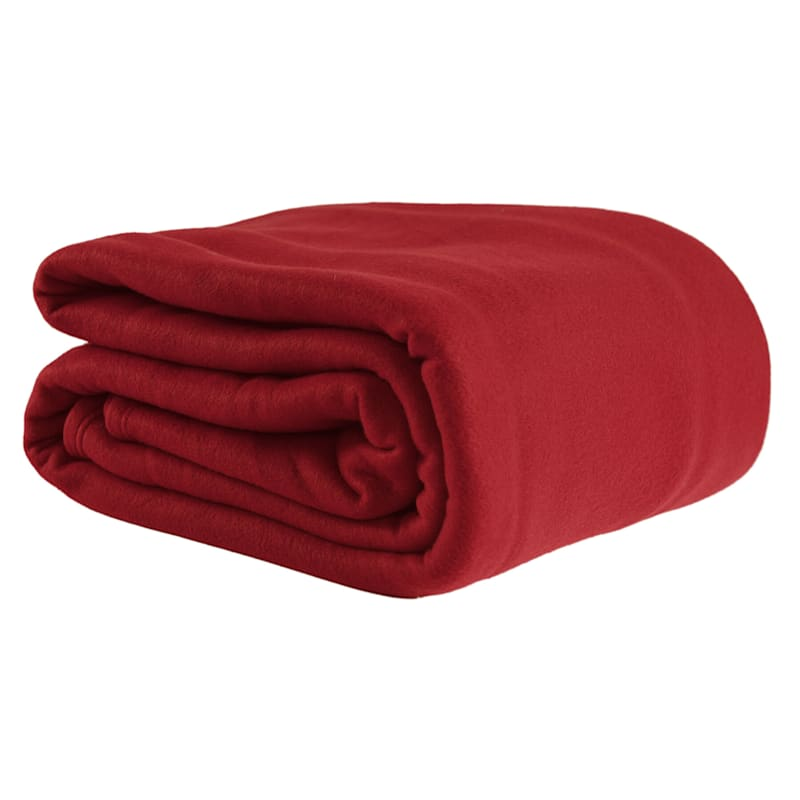 Fleece Blanket, Full/Queen, Red