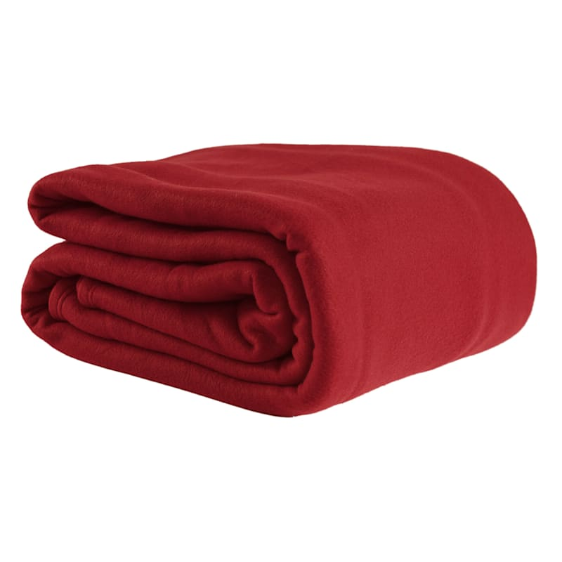 Fleece Blanket, King, Red