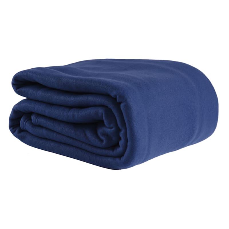 Fleece Blanket, Full/Queen, Navy Blue