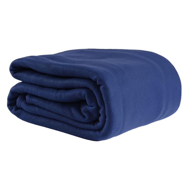 Fleece Blanket, King, Navy Blue