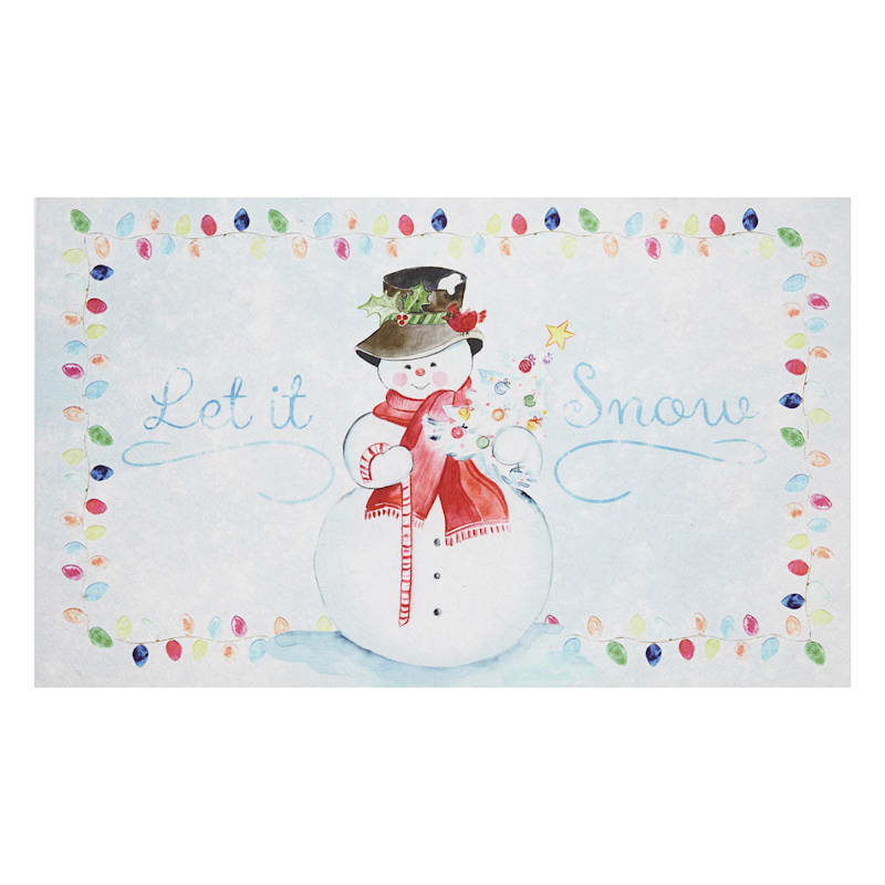Let It Snow Mat, 18x30