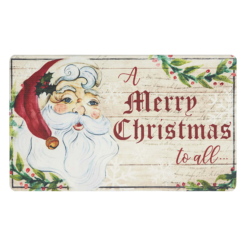 Vintage Merry Christmas To All Mat, 18x30