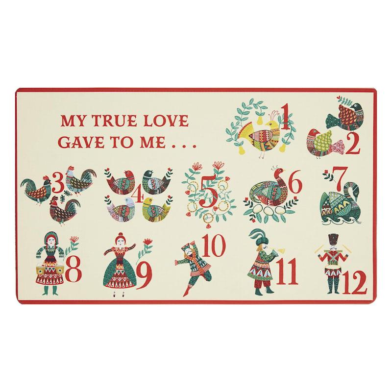 Twelve Days of Christmas Mat, 18x30