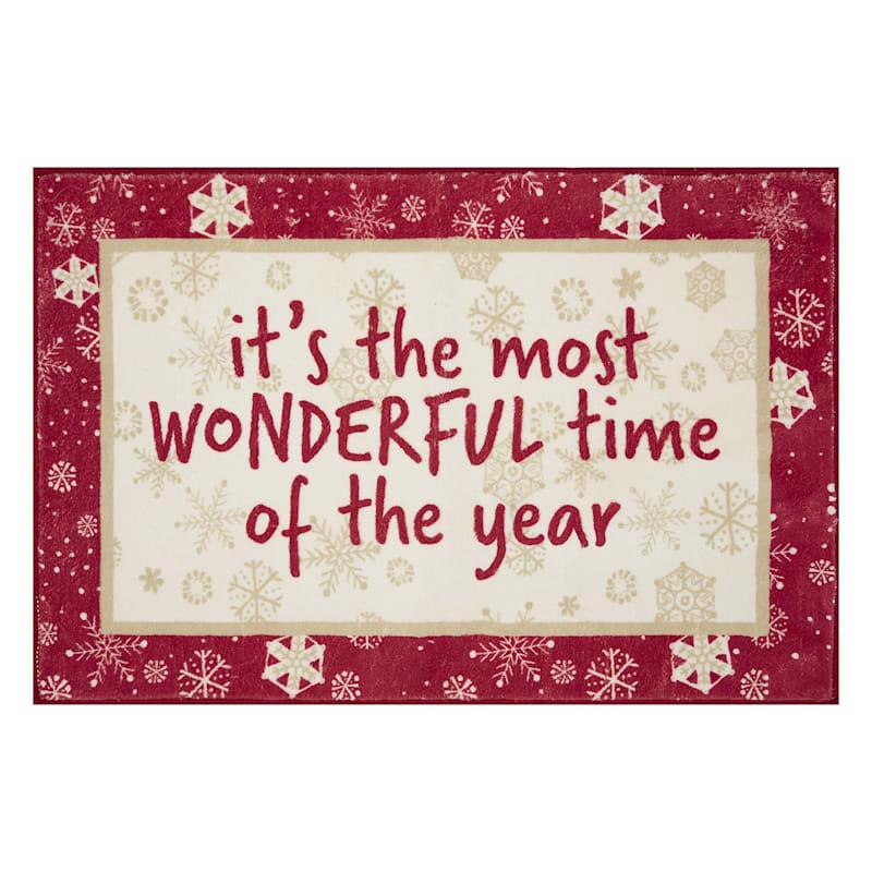 Wonderful Time of Year Mat, 20x30