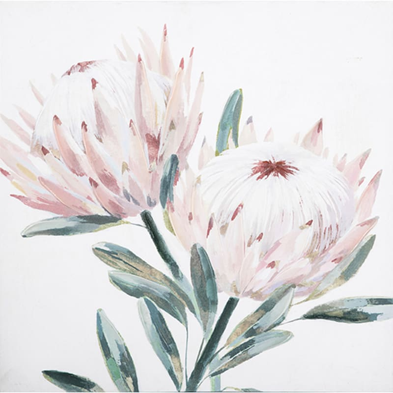 Pink Protea Canvas Wall Art