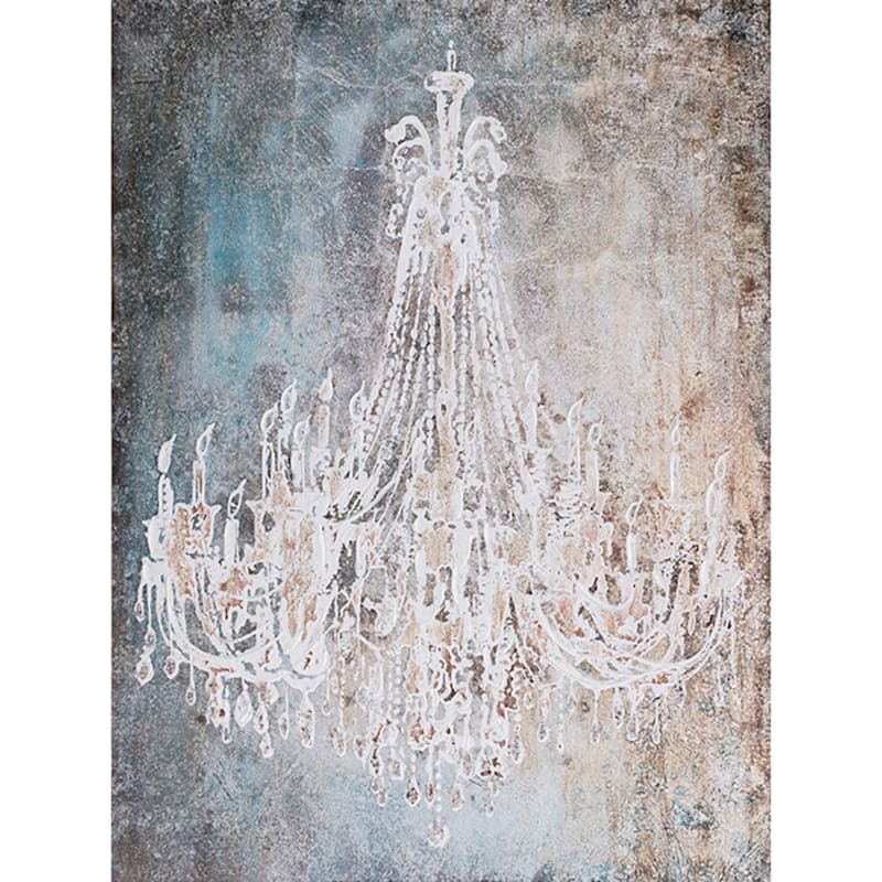 36X48 Abstract Chandelier Canvas