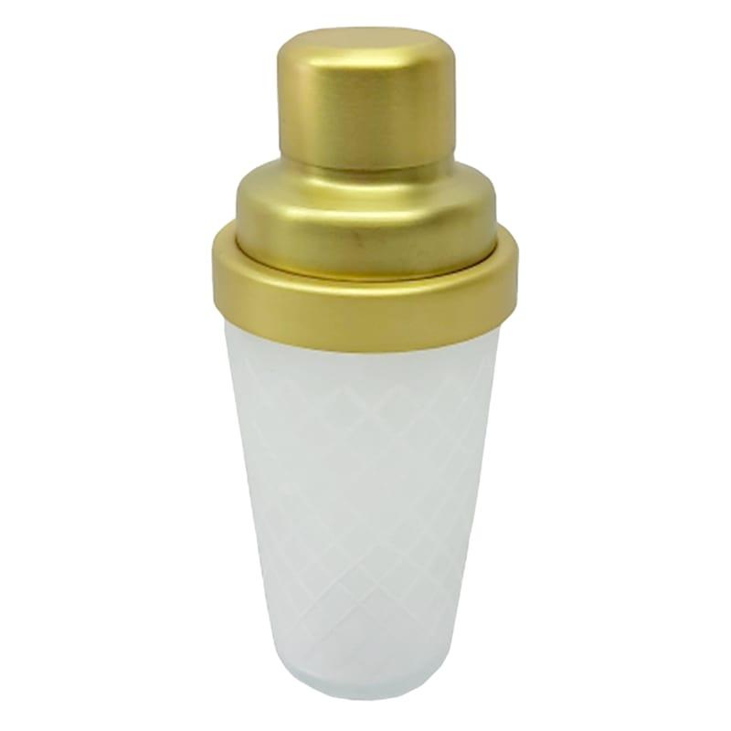 PATTERN GLASS COCKTAIL SHAKER