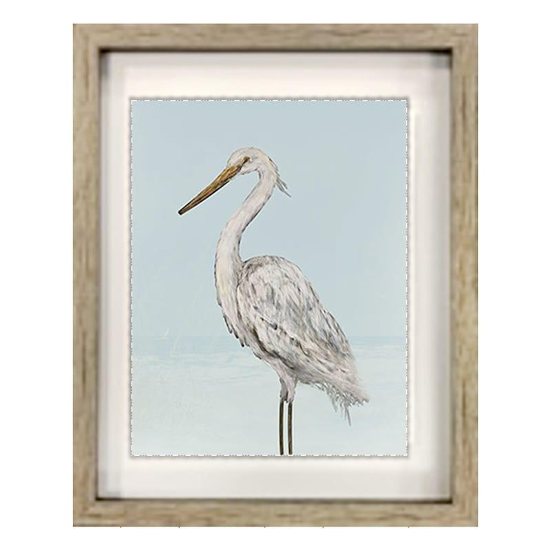 15X18 Coastal Heron Framed Art
