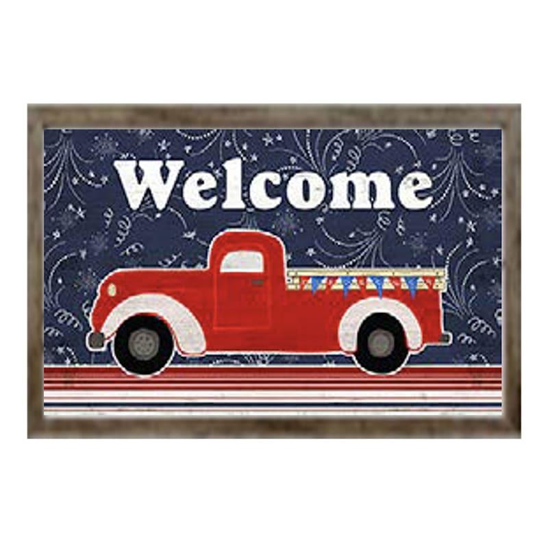 18X15 Welcome Truck Framed Art