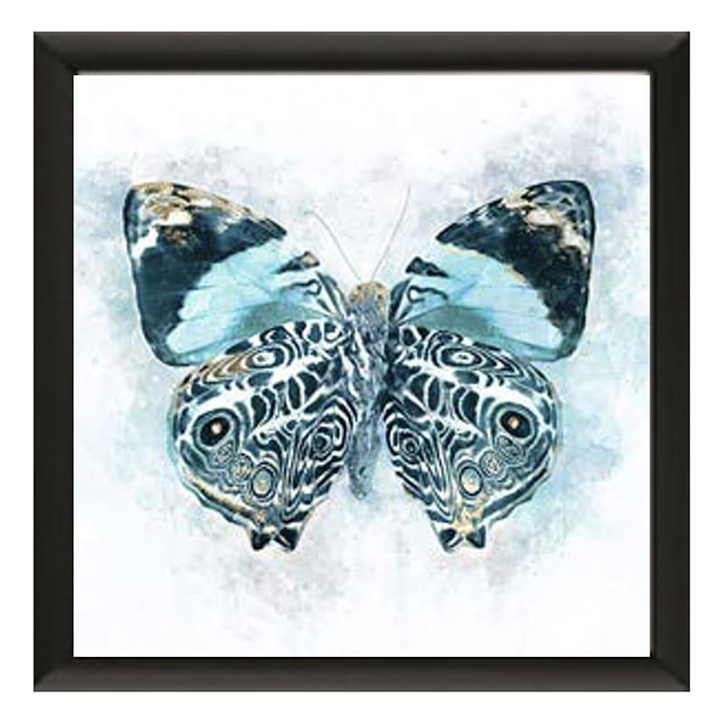 13X13 Winged Beauty Butterfly Framed Art