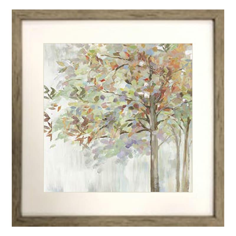 Serene Tree Framed Wall Art Under Glass