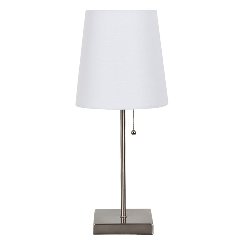 18IN SLVR W SHADE ACCENT LAMP