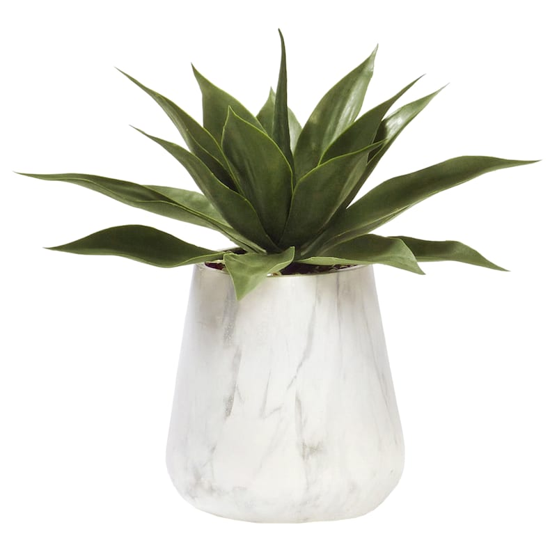 18IN AGAVE IN MARBLE POT
