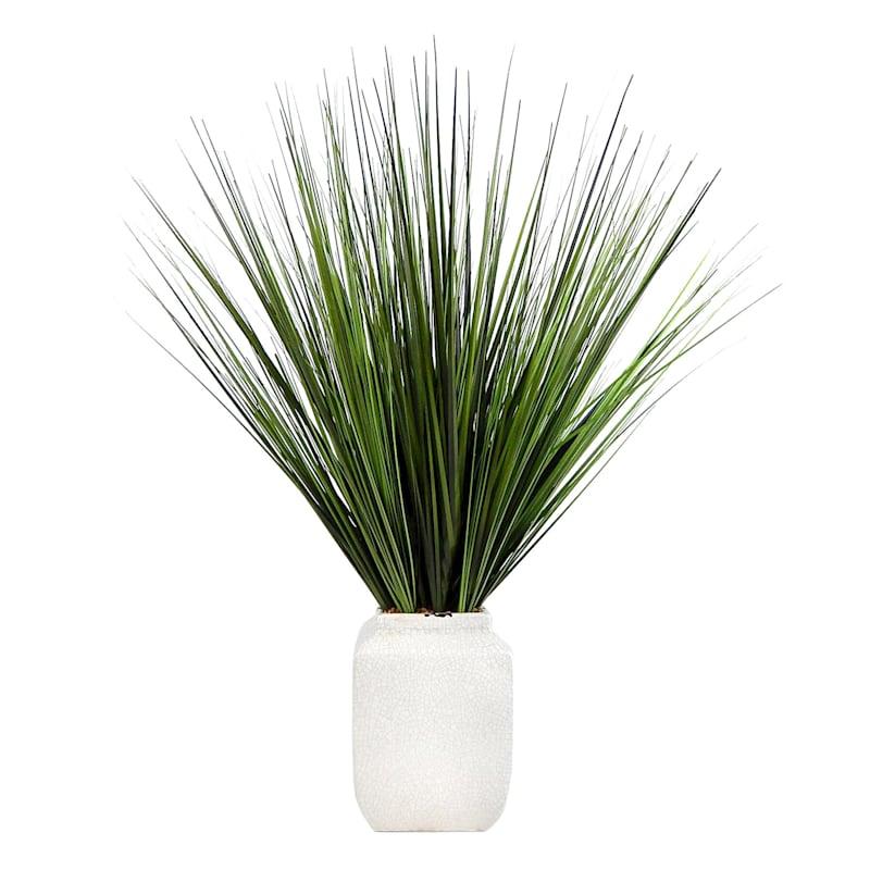26.5IN GRASS IN WHITE CERAMIC