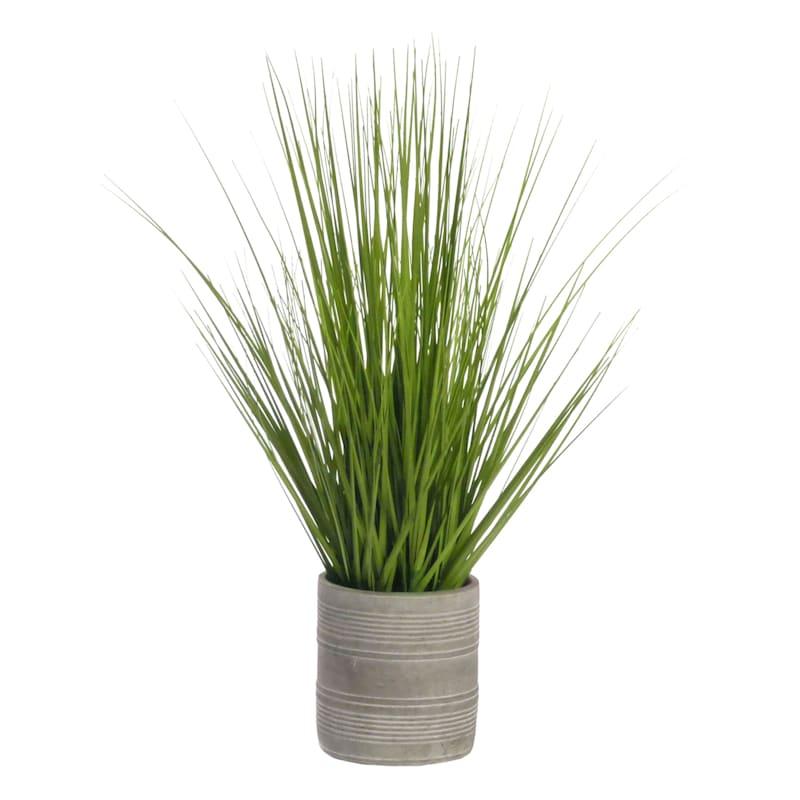 24.5IN ONION GRASS CEMENT POT