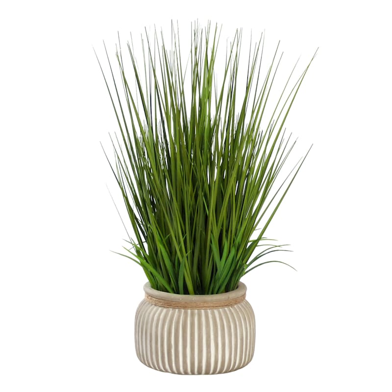 24IN GRASS IN CEMENT POT