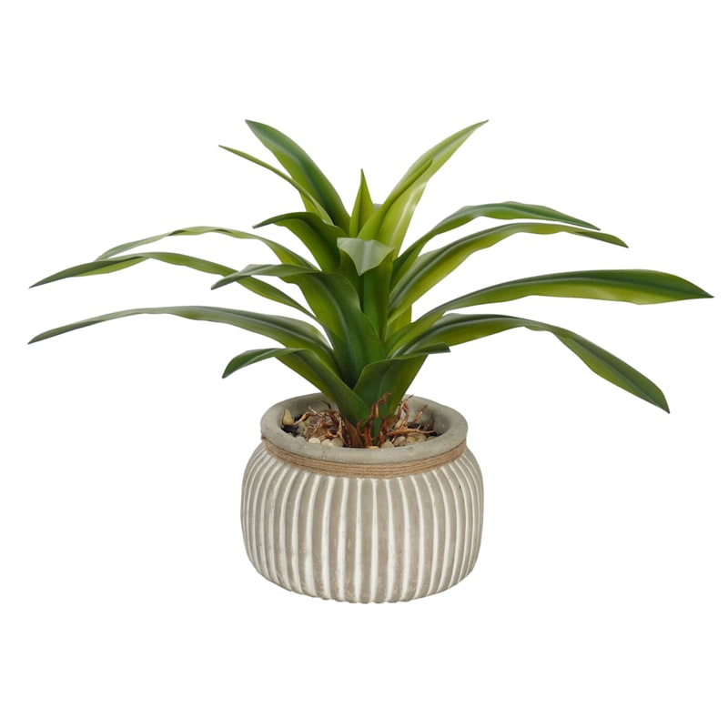 15.5IN GREENERY IN CEMENT POT