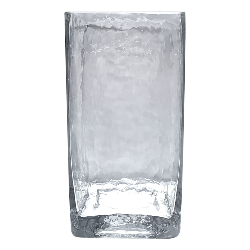 4X8 SQAURE GLASS CANDLE HOLDER