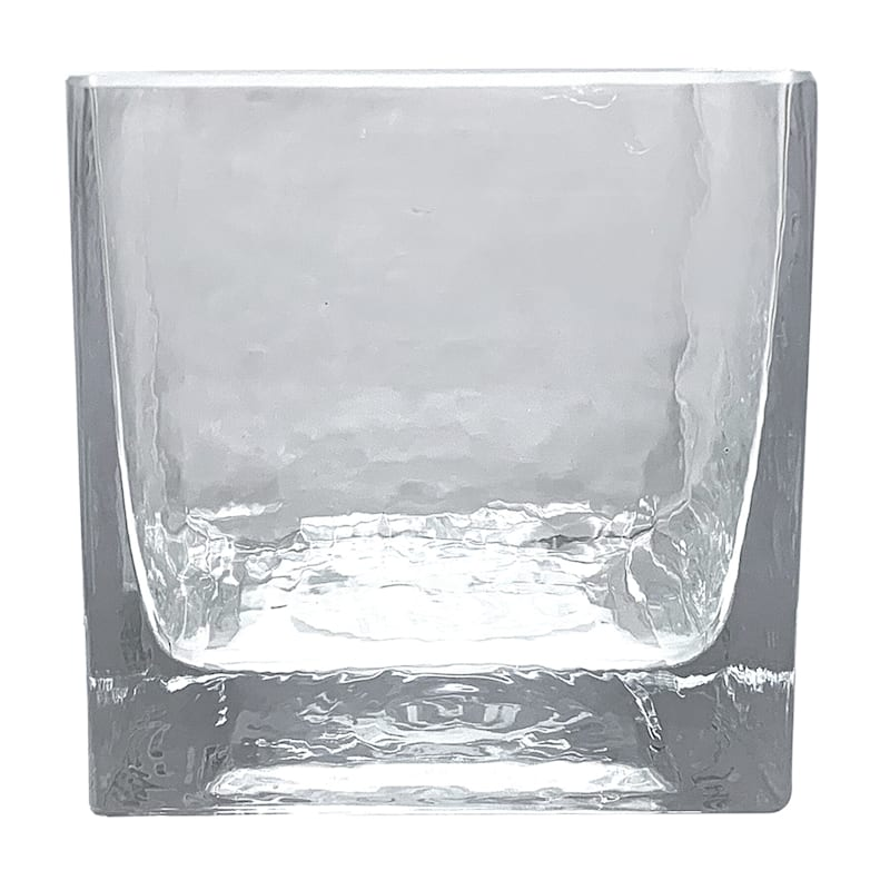 4X4 SQAURE GLASS CANDLE HOLDER