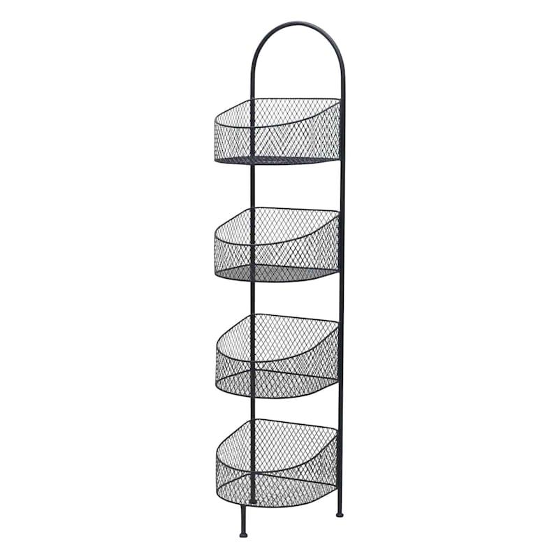 Black 4 Tier Storage Basket