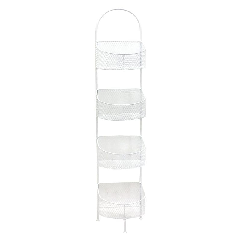 White 4 Tier Storage Basket