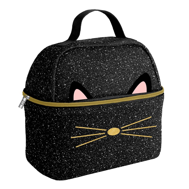 Black Meow Lunch Bag