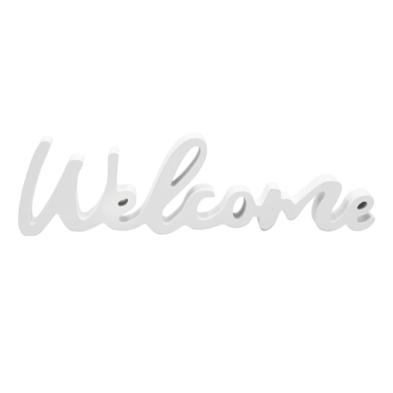 10X5 WHITE WELCOME SIGN