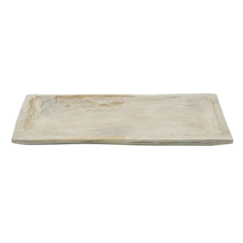 LIGHT WASH WD TRAY 16X6