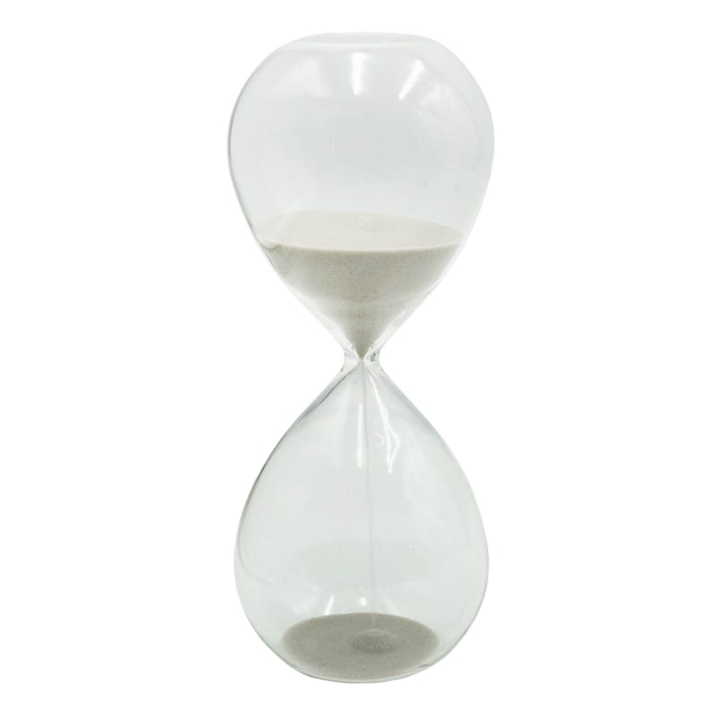 Hourglass with Light Grey Sand, 8""