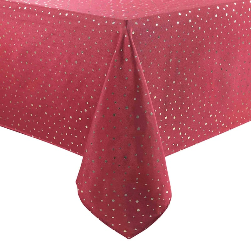Red & Gold Dot Table Cloth, 60 x 84