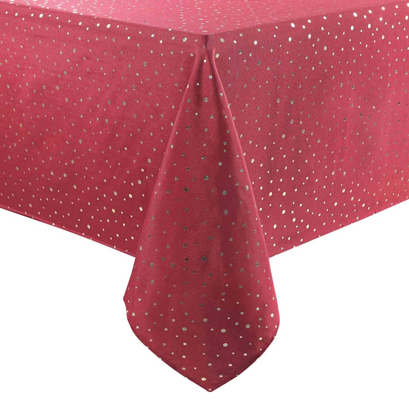 Red & Gold Dot Table Cloth, 60 x 10
