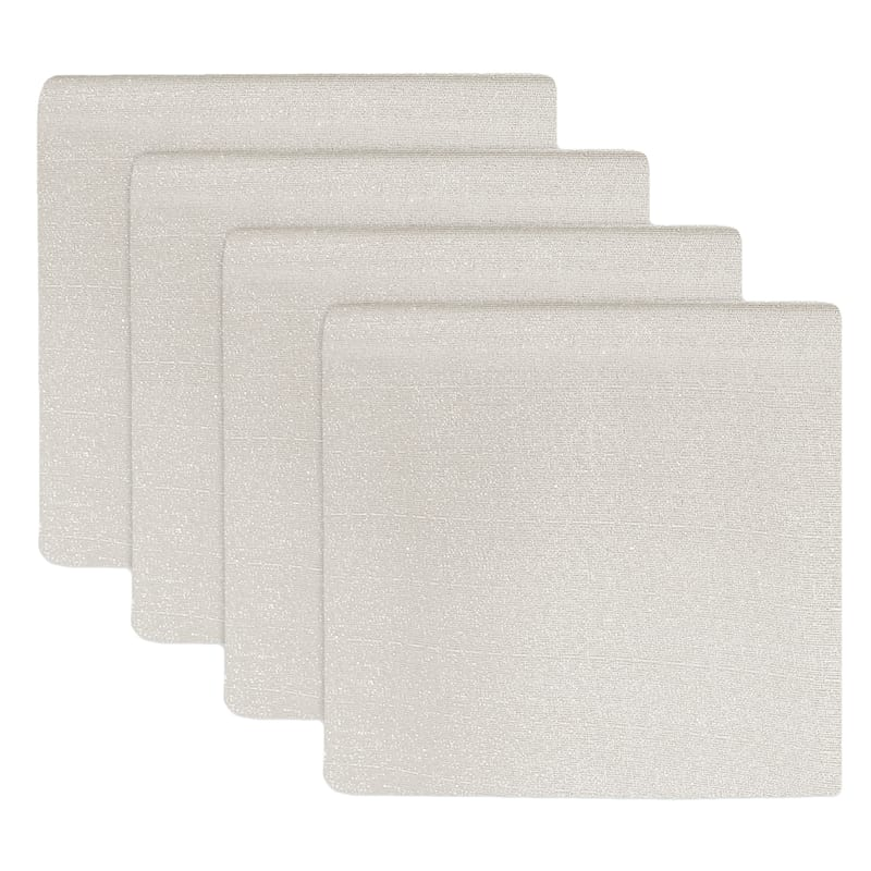 Set of 6 Ivory Shimmer Napkins