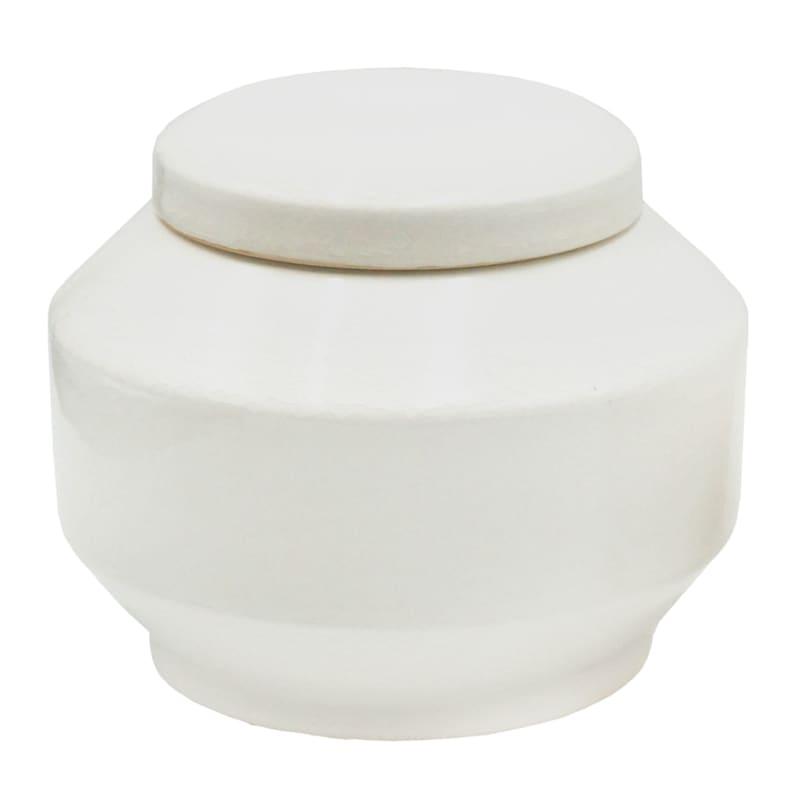 CORE WHITE CERAMIC JAR BOX 7X6