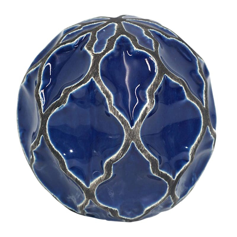 Katherine Navy Blue Ceramic Orb, 4""