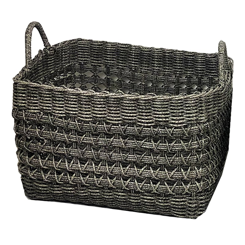RECT PP WV BASKET GRY L