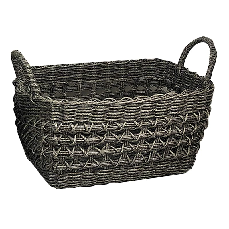 RECT PP WV BASKET GRY S