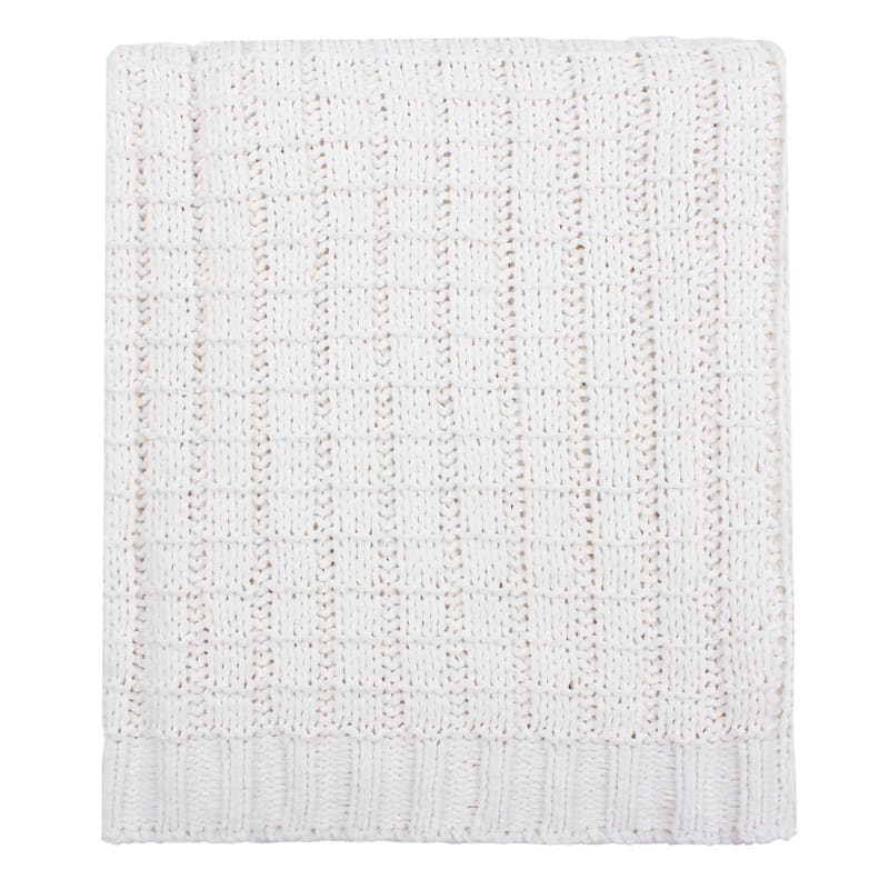 CHENILLE KNIT THRW IVORY 50X60