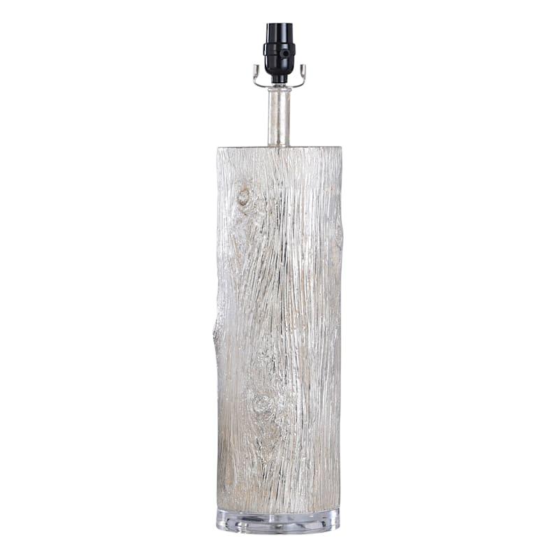 """Silver Bark Ceramic Lamp, 24.5"""""""