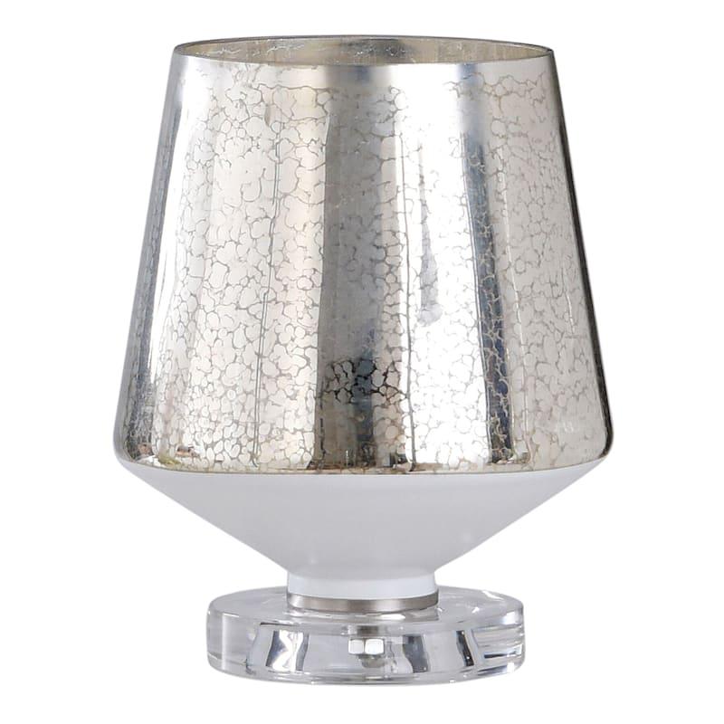 "Silver Glass Uplight, 10"""