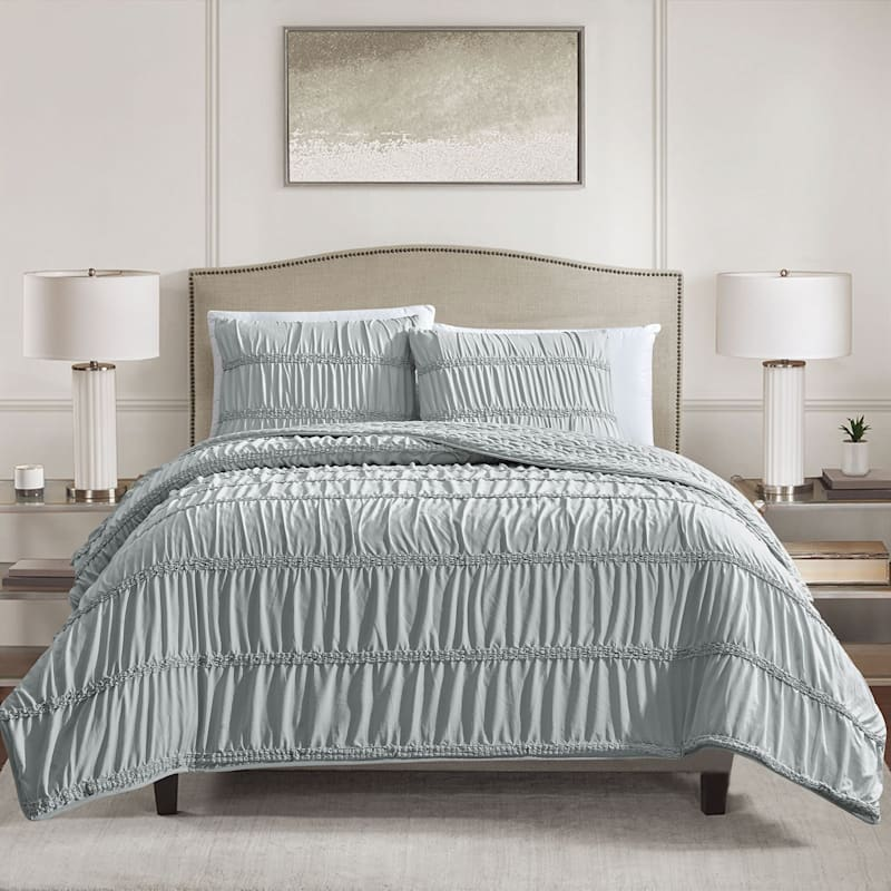 RENYA 3PC QUILT LT GREY K