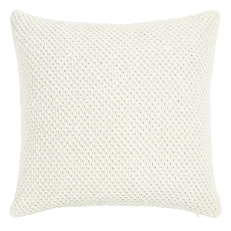 BRAIDING 18IN PILLOW IVORY
