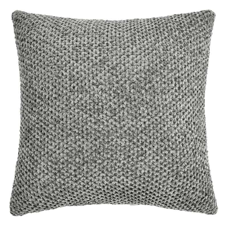 BRAIDING 18IN PILLOW GREY