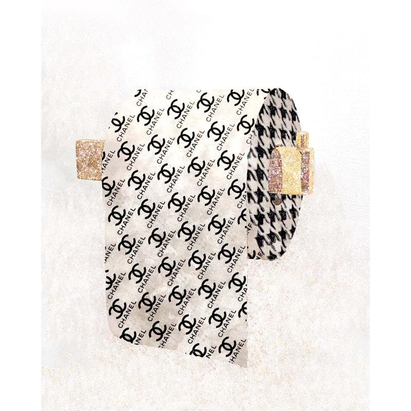 12X16 Designer Glam Toilet Paper Canvas Wall Art