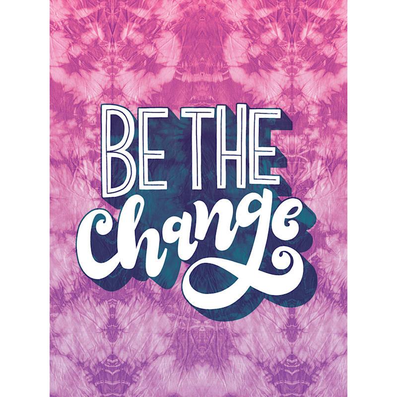 12X16 Be The Change Tie Dye Canvas Wall Art