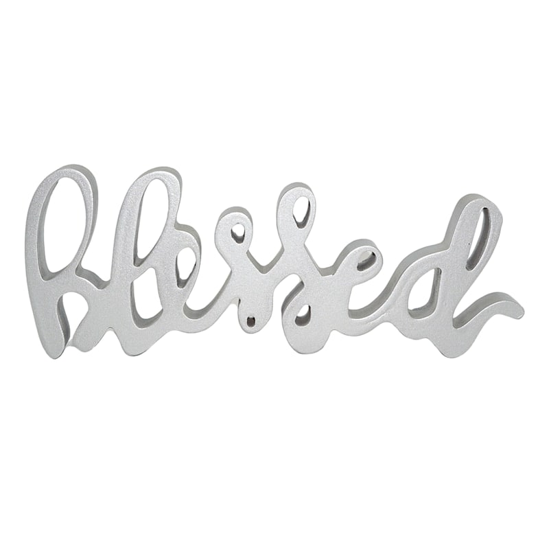 12X5 SILVER BLESSED SIGN