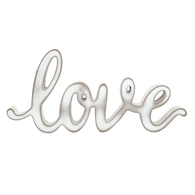 10X5 DISRS WHITE LOVE SIGN