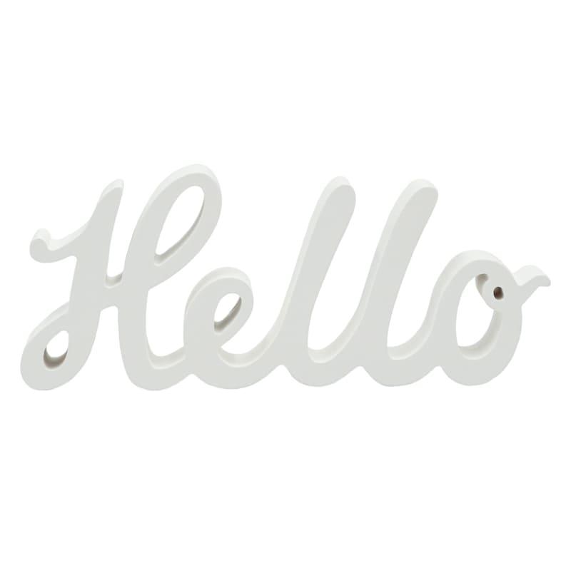 10X4 WHITE HELLO SIGN