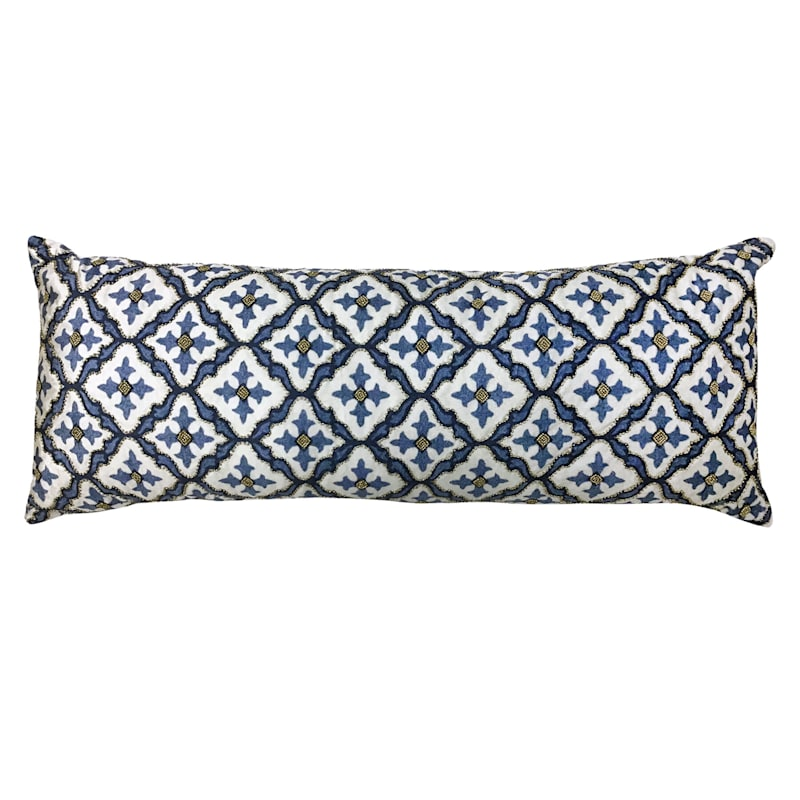 Blue Print Bead Pillow