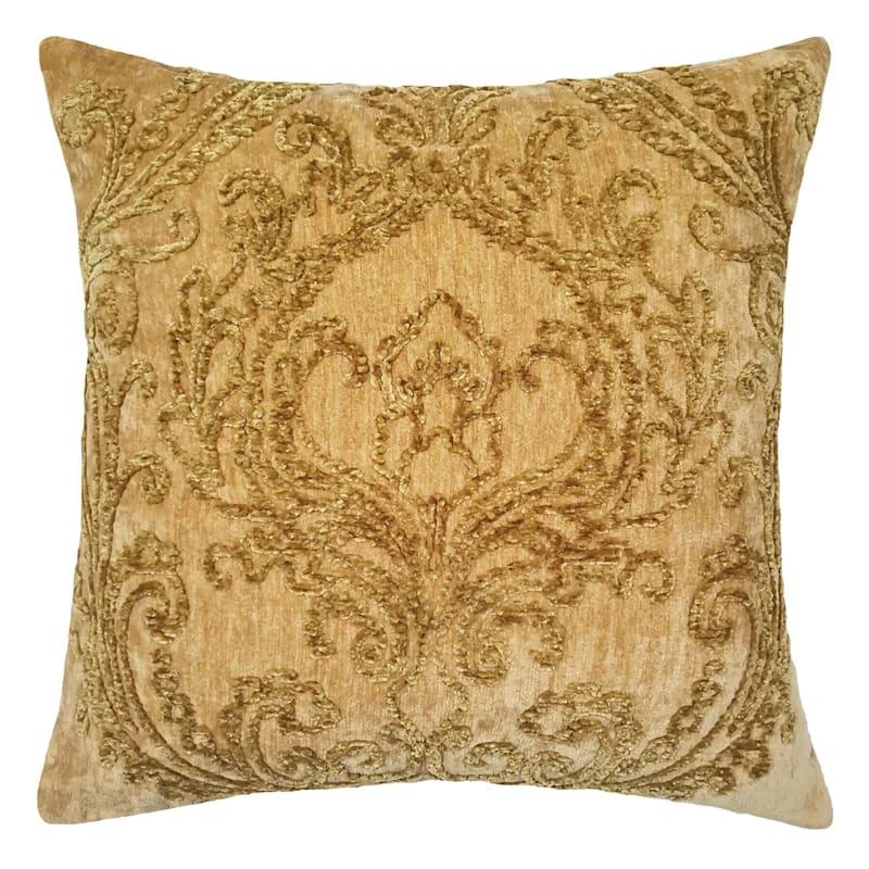 Ivy Gold Chenille Velvet Pillow 18X18